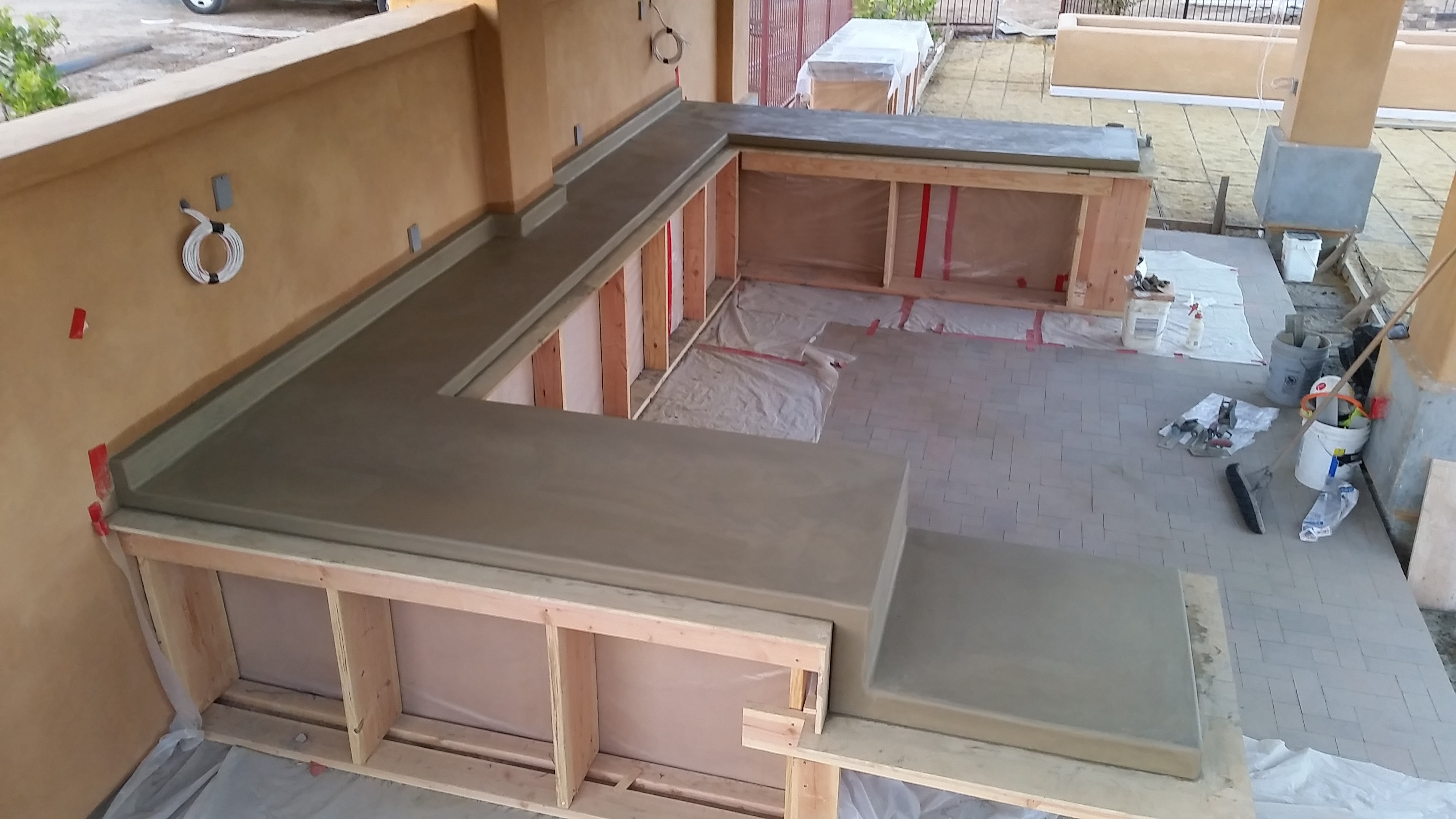 Concrete Countertop With Acid Stain